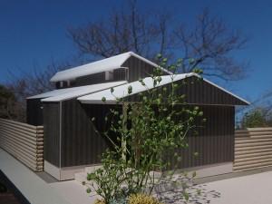 松戸の家 模型写真